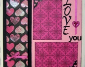 2 Page Scrapbooking Kit Pages Love Premade Valentines Wedding 12x12 Layout