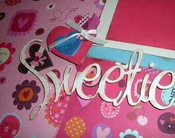 Scrapbook Layout Baby Girl Valentine 2 Page KIT