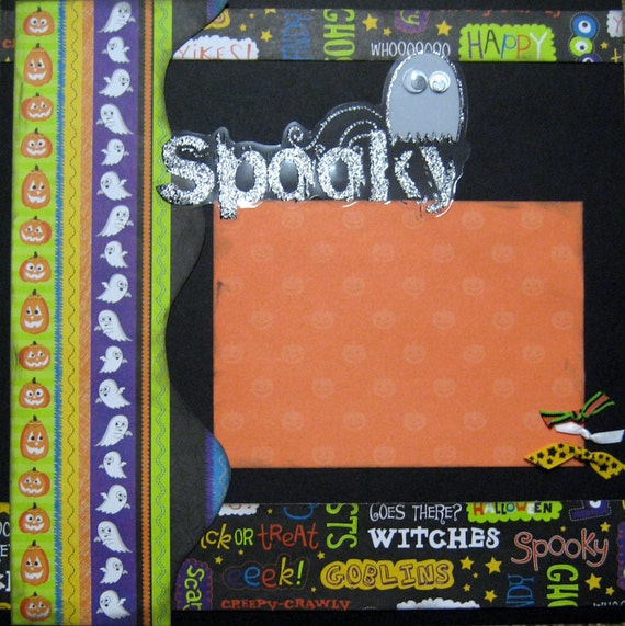 Scrapbook Layout Halloween 12x12 Scrapbooking Page Kit Premade