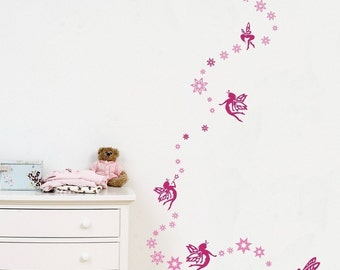 Pretty in Pink Fairies - Wall Decals