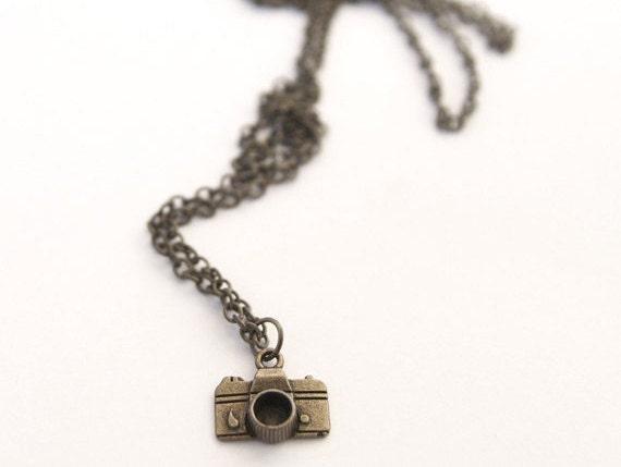 Small Camera Necklace Pendant // Photographer Gift // Christmas Gift // Stocking Stuffer
