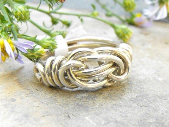 Love Knot Ring - Sterling Silver Ring - Infinity Knot - Friendship Jewelry