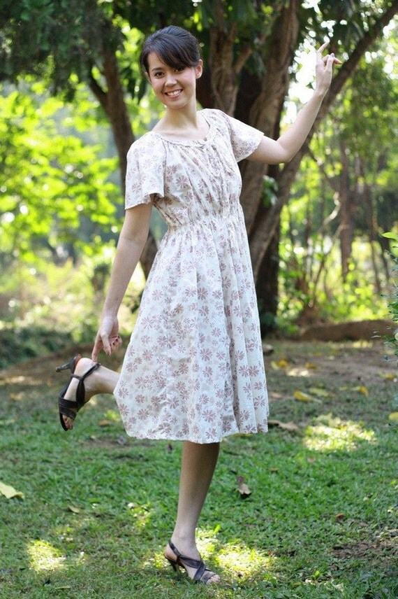 CLEARANCE SALE---N069---Lovely Dress with beautiful flowers