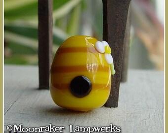 Beehive Lampwork Bead