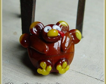 Turkey Gobbler Thanksgiving Lampwork Bead