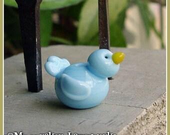 Bluebird of Happiness Spring Lampwork Bead