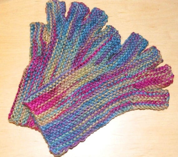 Fingerless gloves knitting pattern PDF download worsted