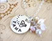 Bumble bee necklace with name, honey bee necklace, mothers necklace, childrens name, personalized kids name, queen bee necklace, Hawaii