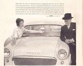 1958 ad Standard Ensign auto retro classic car advert Mad Men era automobilia wall decor for framing black and white - Free U.S. shipping