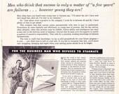 1961 ad Business Success or Failure at Age 30 vintage Forging Ahead retro web Mad Men era Alexander Hamilton Institute - Free U.S. shipping