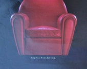 1990 advertisement for red chair Vanity Fair Poltrona Frau classic furniture Italian design armchair wall decor to frame - Free USA shipping
