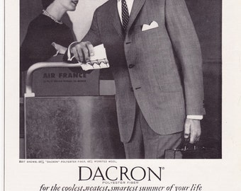 1961 ad Dacron Polyester Suit Du Pont Phoenix Clothes ... Dacron 1954