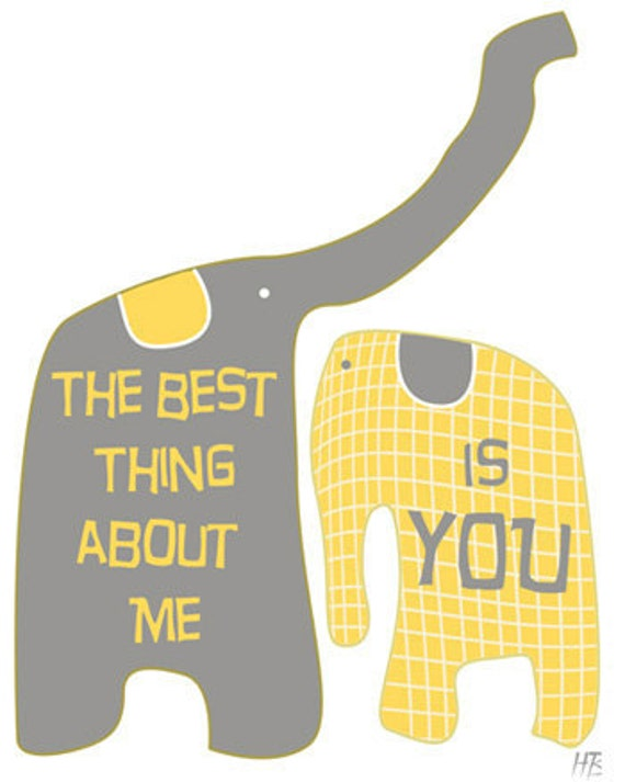 The best thing about me is you - Love Typography Print - Giclee Art Illustration - Digital Wall art - Typography Art - illustrations, quote