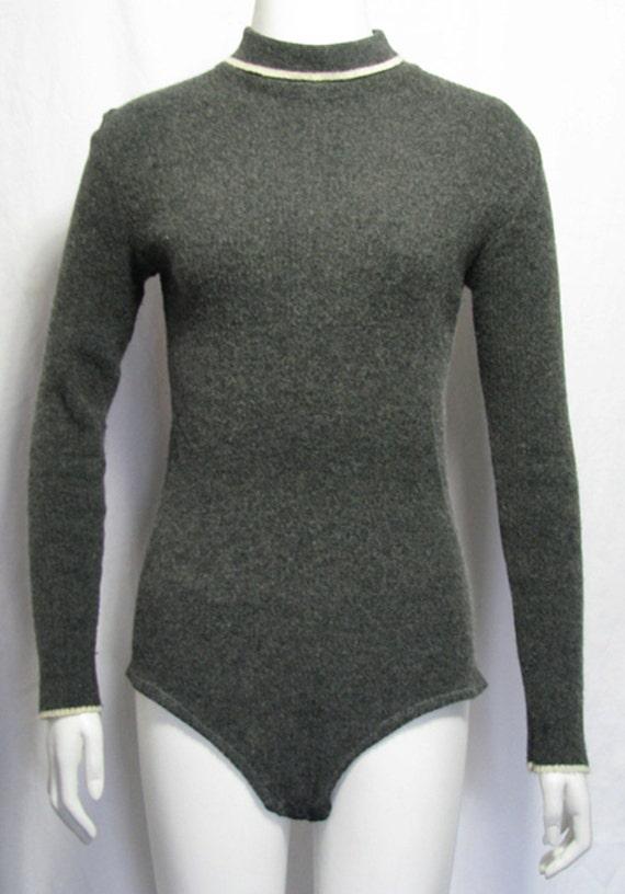 Gray Sweater Bodysuit
