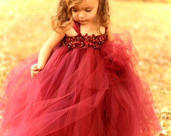 Couture Dreams- Beautiful in Burgandy Tutu Dress