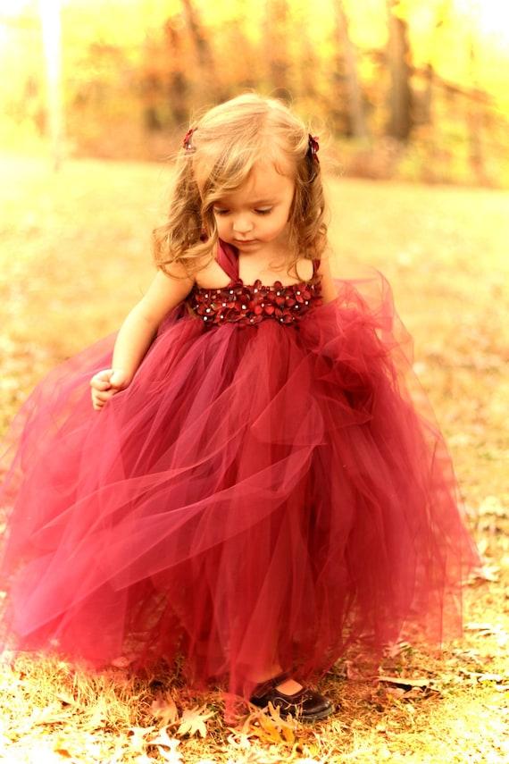 Couture Dreams- Beautiful in Burgandy Tutu Dress