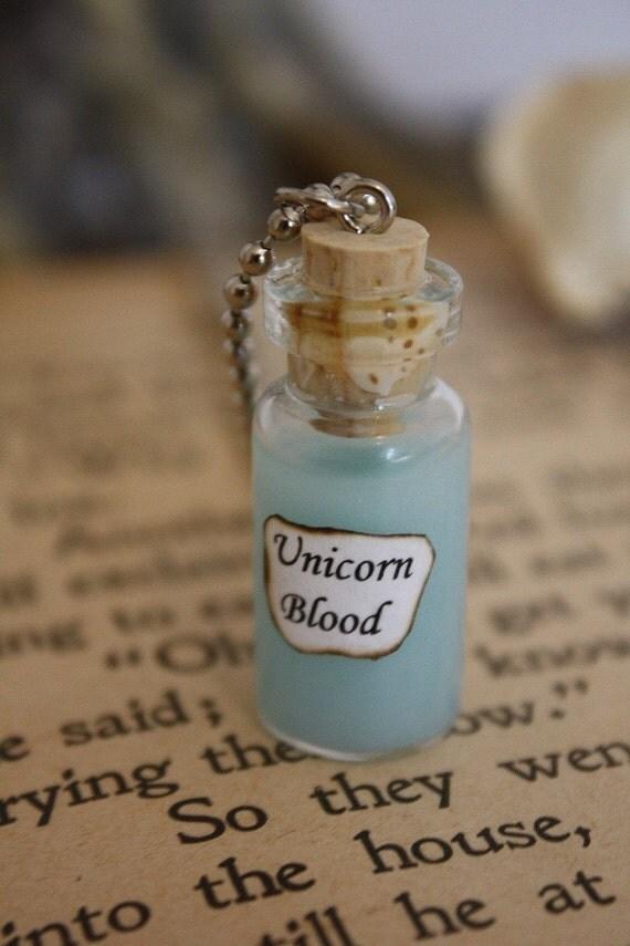Unicorn Blood - Vial Necklace - Unicorn Necklace - Halloween Jewelry