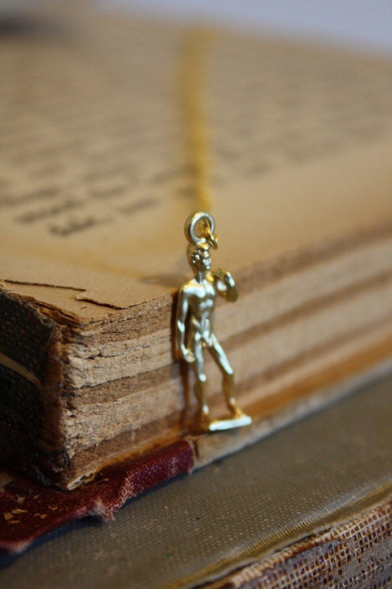 Michelangelo's David Charm Necklace - Art History