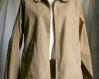 Tan Lightweight Jacket, Fresh and Dapper - Polyester / Cotton / Penn-Prest - Hipster Jacket