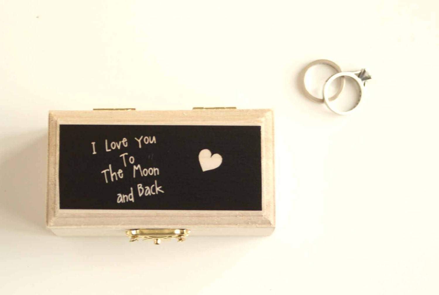 Wedding Ring Bearer Pillow Ring box Modern Ring by LittleWeeShop