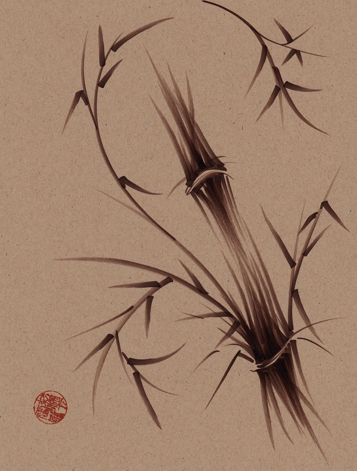 Chinese Zen Drawings Zen Bamboo Drawing