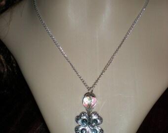 Celtic shamrock / clover St. Patrick necklace