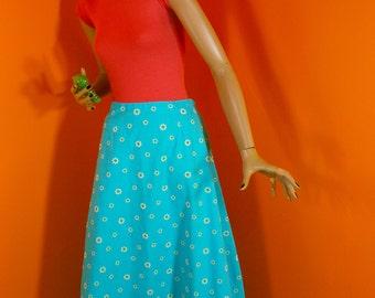 70s Prairie Maxi Skirt / Daisy Skirt 1970s