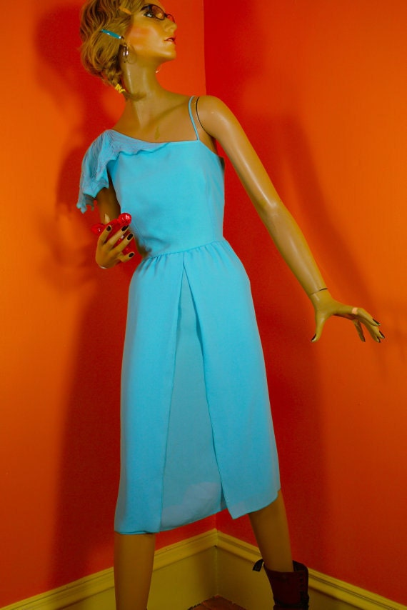 Vintage Australian Disco Dress by Purple Patch 1970s
