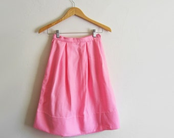 CLEARANCE Vintage 1960s Cotton Candy Pink Skirt