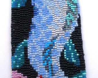 Koi Fish Peyote Cuff Bracelet