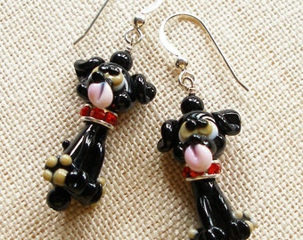 Black Lab Earrings,  Black Labrador Earrings, Black Labs,  Dog, Pet, Puppy