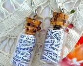 Pride and Prejudice in a Jar Earrings - FREE SHIPPING