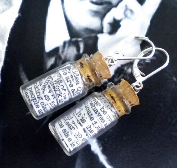 Oscar Wilde in a Jar Earrings - FREE SHIPPING
