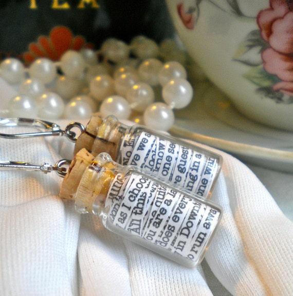 Downton Abbey in a Jar Earrings - FREE SHIPPING