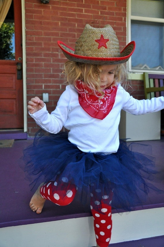 Cowgirl Tutu Costume (hat, bandana, tutu and leg warmers)