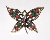 Sarah Coventry Brooch - Butterfly - 1973 Wings of Fashion