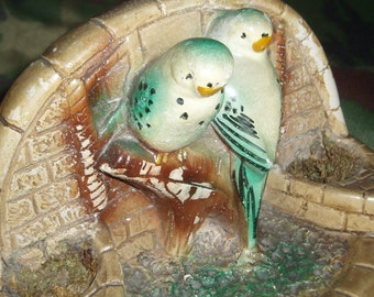 Two Little Birds - Vintage Chalkware Ornament