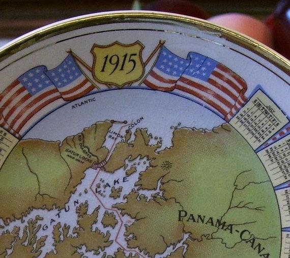 PANAMA CANAL 1915  Commemorative Harker Pottery