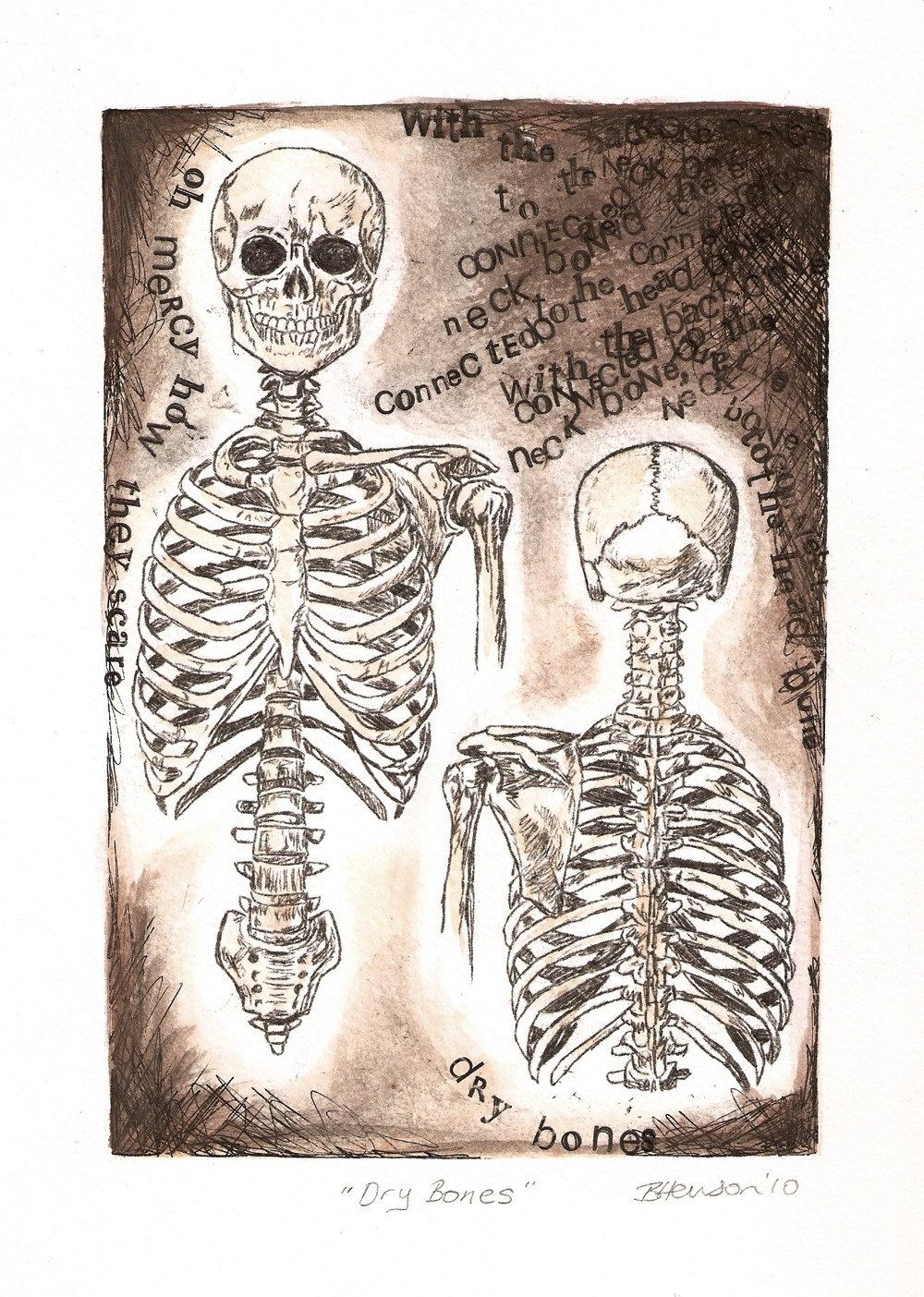 Valley of Dry Bones Art Anatomy Art Dry Bones