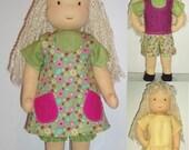 PDF Pattern for 16-inch Waldorf Doll Plus 6-Piece Wardrobe patterns