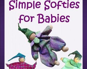 Simple Softies Waldorf Dolls 3-Pack PDF Pattern Plus BONUS Tabby Cat Pattern