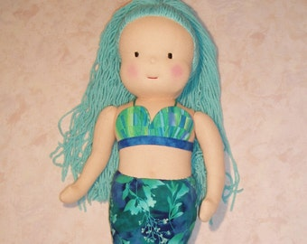 PDF Pattern for 18 to 20-inch Waldorf-Inspired Mermaid Doll