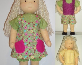 PDF Pattern for 16-inch Waldorf Doll Plus 6-Piece Wardrobe patterns