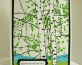 Marimekko Kaiku Father's Day Card, Father's Day Card with Birch Trees,