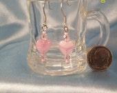 Petite Pastel Pink Heart Earrings
