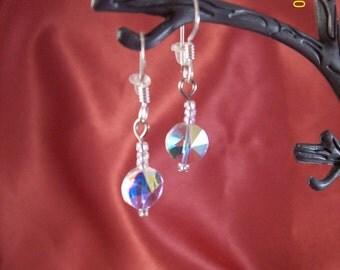 Aurora Borealis Sterling Silver Drops