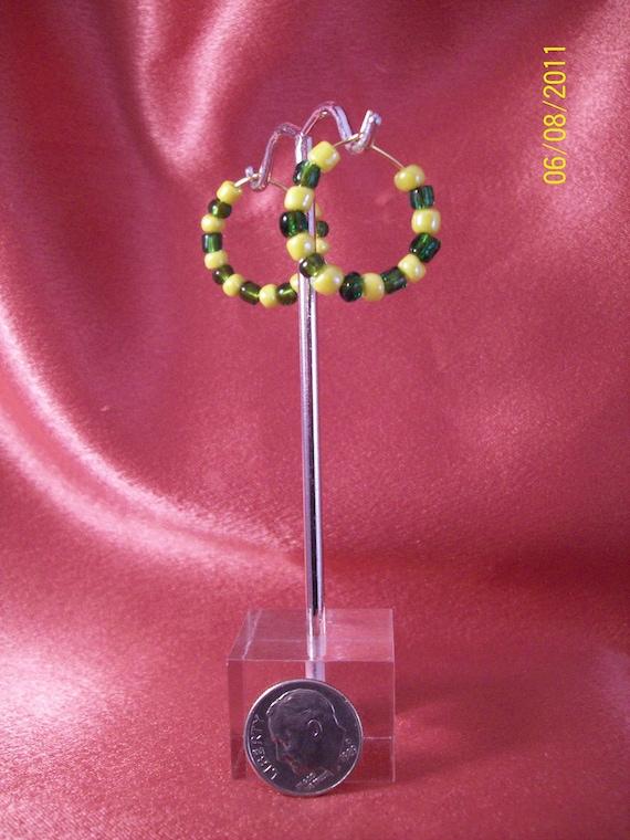 Duck Fan Hoop Earrings