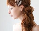 Wedding, Bridal Fascinator, Head Piece, Crystal Hair pin, Wedding Hair Accessory, Silver - Crystal Twigs