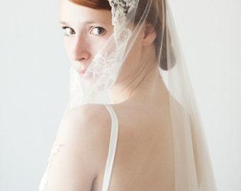 Lace Wedding Veil, Bridal Veil, Mantilla Veil, Lace Veil, Lace Mantilla Veil, Long Veil, Cathedral Veil, Chapel Veil - Everlasting Love