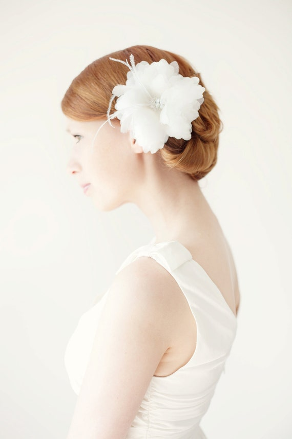 Finely Feathered - Bridal Hair piece